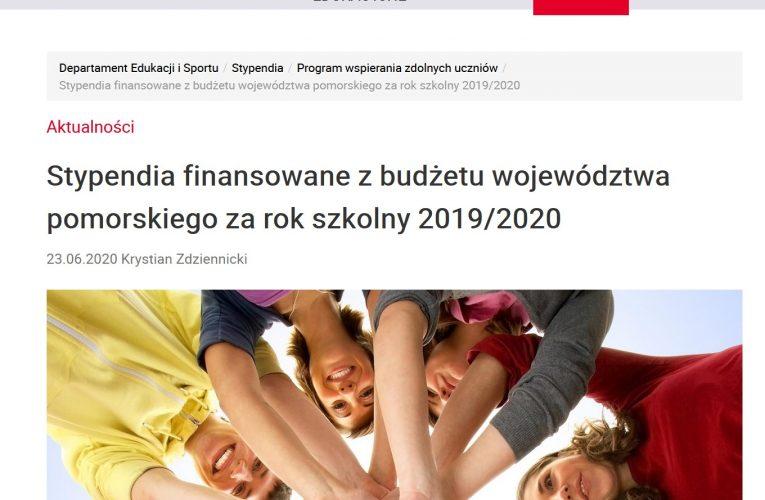 Stypendium Marszałka Województwa Pomorskiego