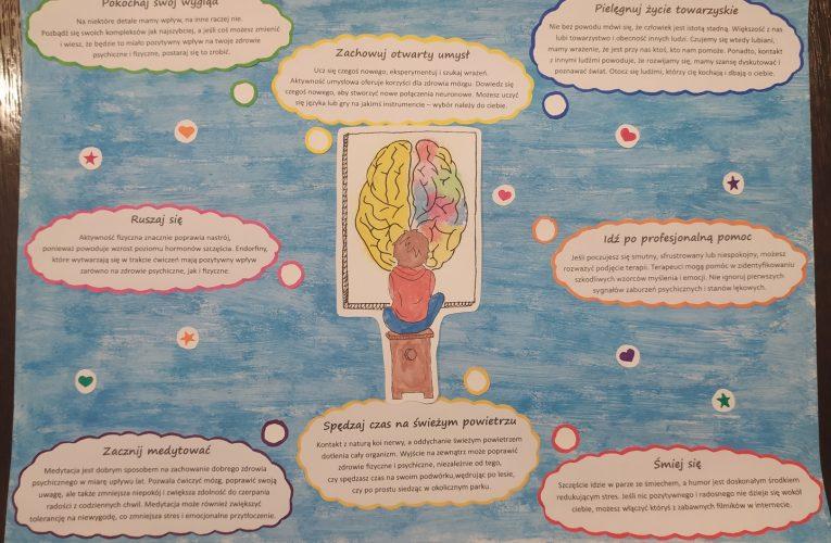 Jak zadbać o zdrowie psychiczne – prace uczniów